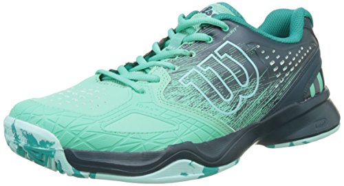 Wilson Kaos Comp W, Zapatillas de Tenis Mujer, Verde (Electric Green / Reflecting Pond / Arub), 39 2/3 EU