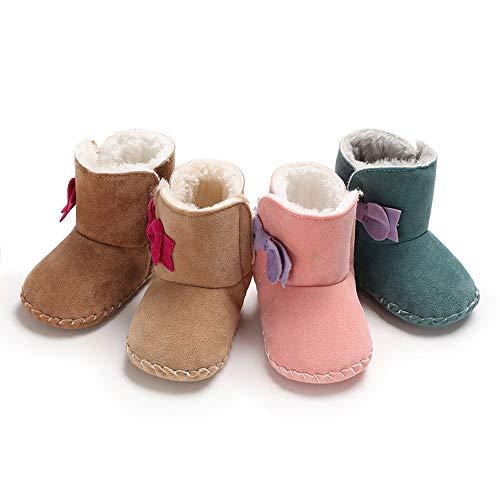 Scarpe Primi Passi Topgrowth Bambina Stivali da Neve Bowtie Stivali Neonato  Infantile Culla Stivali Invernali Stivaletti Morbidi eb0ae33eb78