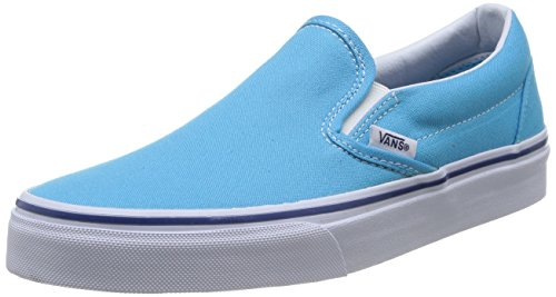 Vans U Classic Slip-on, Baskets mode mixte adulte Turquoise (Cyan Blue/True White)