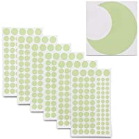 Bright Creations 505-Pc Glow in The Dark Stars Wall Stickers - 504 Adhesive Dots (2 Sheets) and 1Pc Moon - Green