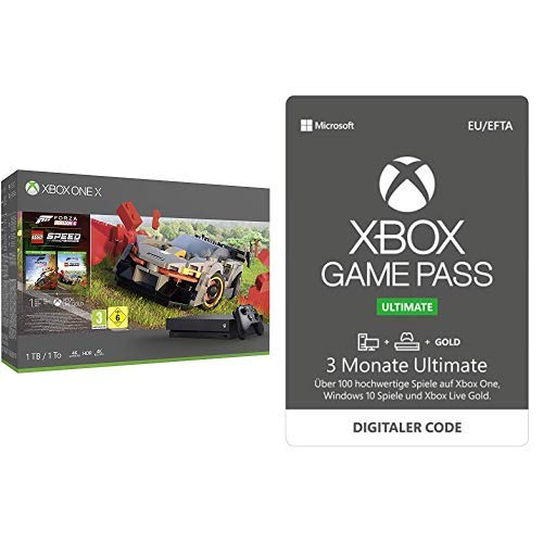 Xbox One X 1TB - Forza Horizon 4 LEGO Speed Champions Bundle + 3 Monate Mitgliedschaft | Xbox Game Pass Ultimate [Download Code]
