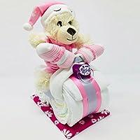 """✿ Kleines Windelmotorrad /""""Belinda/"""" ✿ rosa//pink Mädchen Plüschbär Teddybär"""