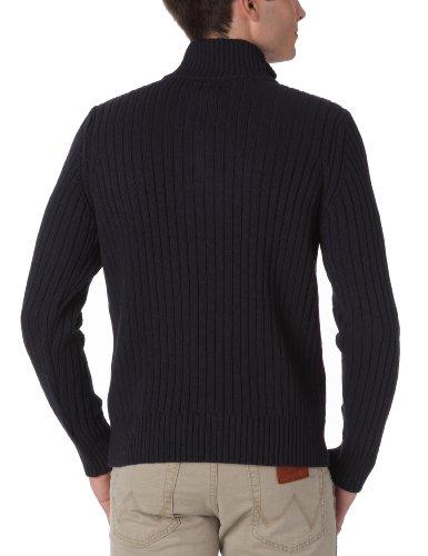 Schott Herren Sweaters  PLRAGE2, Stehkragen ,Uni Marine - Bleu (Navy)