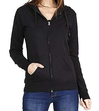 Prokick Women's Cotton Sweatshirt/Hoodie - Black (Small)