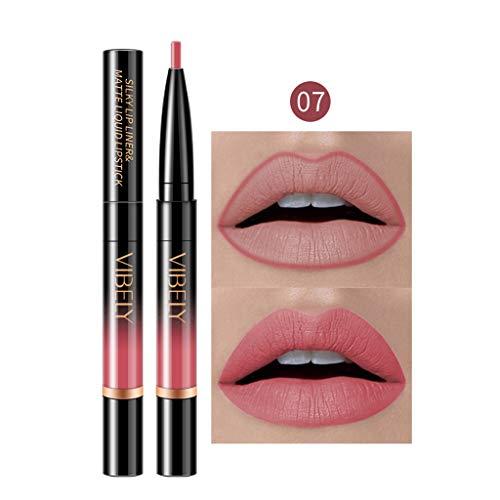 Gaddrt Dauerhafter Lipliner Lip-Liner-Stift mit Bleistift in 16 Farben Lippenkonturenstift (G)