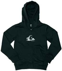 Quiksilver Hood Zip Logo Boy's Sweatshirt Black 8 Years