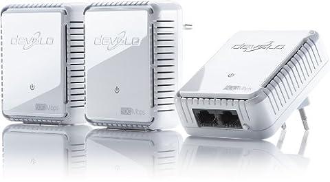 Devolo - 9106 - dLAN 500 Duo Prise Réseau CPL sans Prise Gigogne - Kit Réseau (x3)