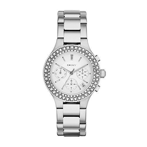 DKNY Damen-Armbanduhr Chambers Chronograph Quarz Edelstahl NY2258