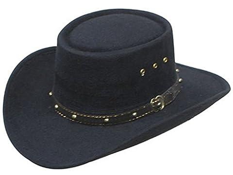 Western Gambler Cowboy Hat Rodeo Black Size L/XL