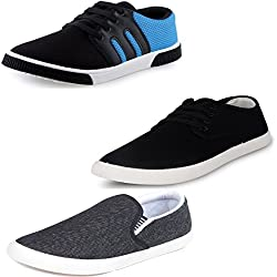 Scatchite Men's Combo Of 3 Shoes- 2 Loafers & 1 Sneaker (8)