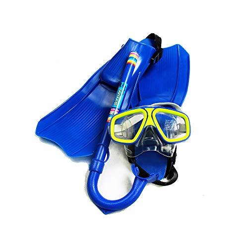 hunptail Tauchset Schnorchelset Tauchset mit Tauchmaske, Schnorchel, Flossen Tauchset für Kinder (Blau)