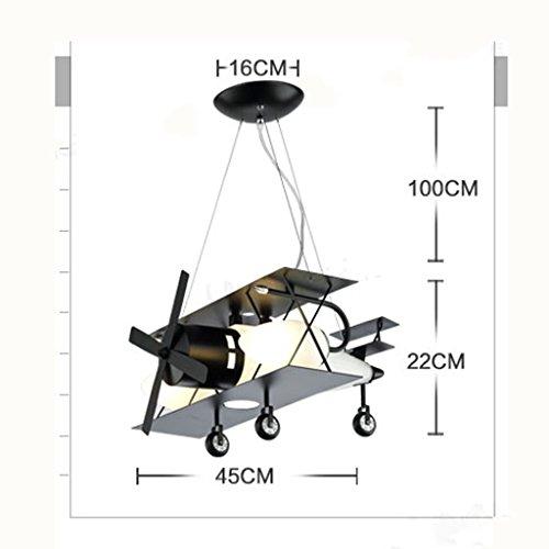 Guo Kinderzimmer-Lichter Jungen-Raum-Flugzeug-Lichter Kronleuchter-Pers5onlichkeit-kreative Eisen-Lampen E14 Lampen-Hafen - 7