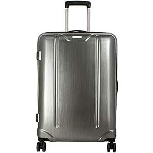 Valise Rigide David Jones Taille M 66cm TSA - Couleur GREY - 4 roulettes - 73.6 litres - Serrure tsa - Poignée télescopique - Fermeture éclair