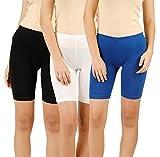 Elk Kids Girls Cycling School Spandex Shorts 3 Pack