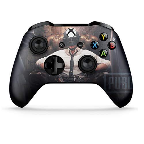 Xbox One S Wireless Controller Pro Konsole - Neueste Xbox Controller Blue-Tooth mit weichem Griff und exklusiver individueller Version Skin (PUBG King)