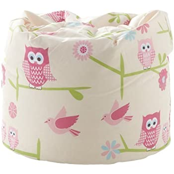 Ready Steady Bed Childrens Bean Bag Owls Design Filled