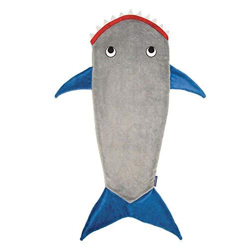 Shark Decke,Polarfleece-Hai-Schlafsack,Fischschwanz Schlafsack Fleece Herbst und Winter Verdickung warm, im Sofa, Bett, Wohnzimmer, Geschenk für Kinder, Teenager
