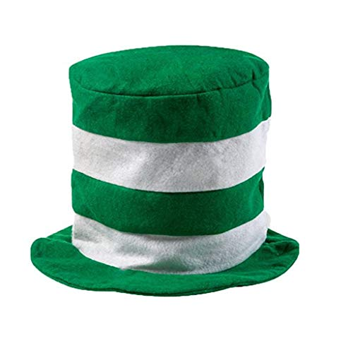 Yumimi88 St. Patricks Day Costume Green Leprechaun Zylinderhut Irland Hut Herren Zylinder Hut