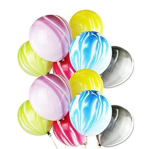 Bunte Luftballons, 12 Zoll Latex Luftballons für Verlobung Hochzeit Geburtstag Party Schlafzimmer Baby Dusche Kindertag Dekoration 100pcs Dekoration Zubehör