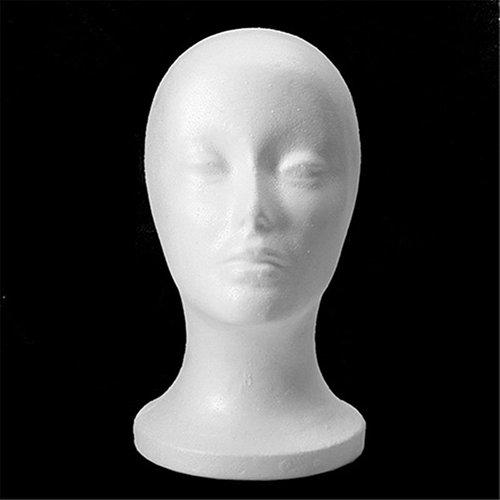 FEIDAjdzf Mannequin-Kopf, weiblicher Kopf, Modell Perücke, Haarkappe, Schaum, -