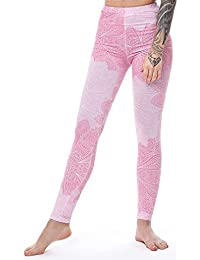 Polainas rosa para mujeres sexy Leggings Para Fitness Flores polaina de cintura alta Slim Leggins Mujeres