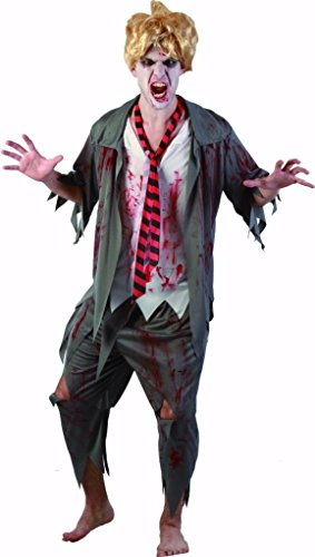 YOU LOOK UGLY TODAY Karneval Halloween Zombie Kostüme Costumes für Herren Erwachsene - M/L - 56