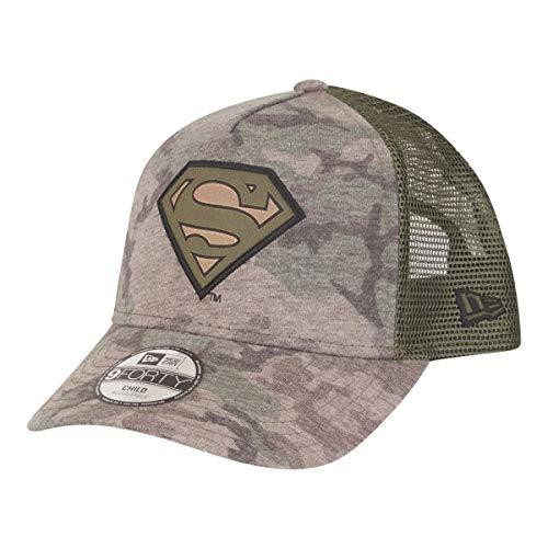 New Era Kids Camo 9 Forty Kinder Trucker Cap Superman Camouflage, Size:Youth - Hüte Era New Jungen