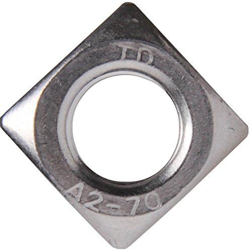 100 Stück Vierkantmuttern M6 DIN 557 Edelstahl A2