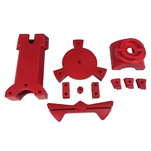HE3D 3D Open Source tragbarer Reprap Ciclop 3D Scanner DIY Spritzgussteile aus rotem Kunststoff