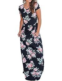 Mujer Vestido verano,Sonnena ❤ ❤ Floral impresión multicolor vestido manga corta para sexy prime mujer El encanto de las…