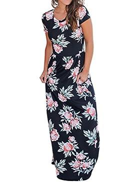 Mujer Vestido verano,Sonnena ❤️ ❤️ Floral impresión multicolor vestido manga corta para sexy prime mujer El encanto...