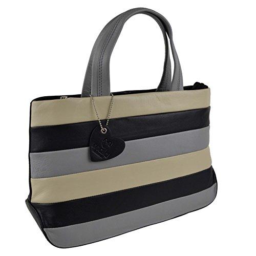 Mala Leather, Borsa a mano donna Rosso Navy Multi medium Multi nero