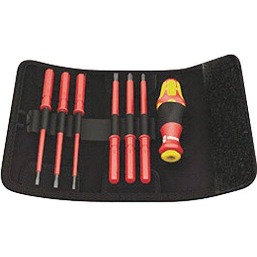 Wera 05003470001 - Set cacciaviti VDE/IEC, 7 pezzi, in borsa pieghevole