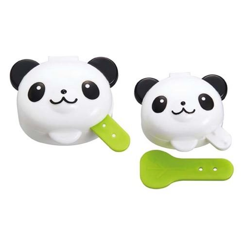 panda mini sauce containers with attached spoon Bento Box Lunch Box by Torune Bento-sauce