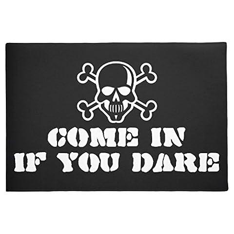 simplement symboles Tête de mort Bones vos idées Paillasson Funny Tapis de sol en caoutchouc antidérapant Tapis extérieur 60x 40cm