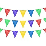 120m of Multicoloured Double-Sided Triangle Flag Pennant Party Bunting Decoration