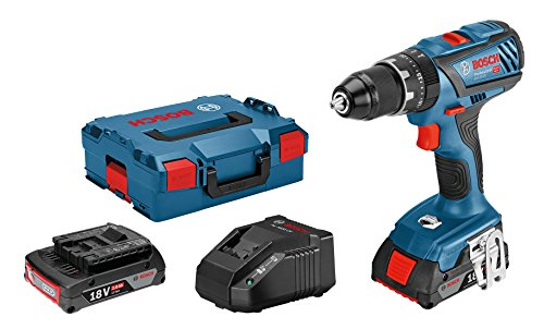 Bosch Professional GSB 18V-28 - Taladro percutor a batería (2 baterías de 2,0 Ah, 18V, en L-BOXX)