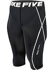 056 New Skin Cuissard de Compression-Short de Running homme-Noir-Pantalon-Femme