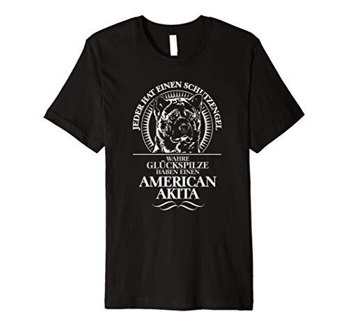 Akita-damen T-shirt (American Akita Schutzengel T-Shirt Hund Hunde Shirt Geschenk)