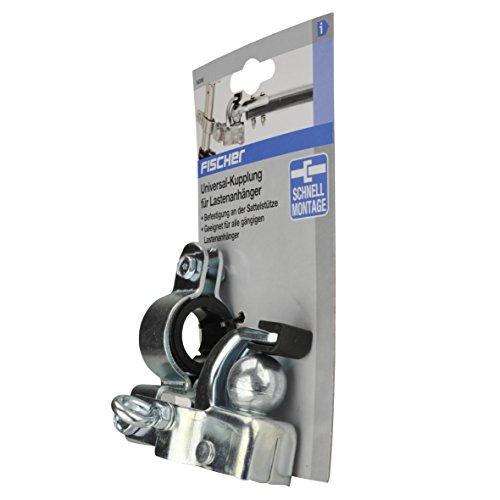 FISCHER Universalkupplung für Lastenanhänger, Silber - 2