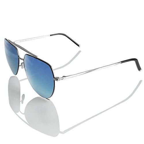 CNIKESIN Polarisierte unisex Sonnenbrille Modische Metallrahmen Fahrer Sonnenbrille 100% UV400 Schutz für Golf, Autofahren, Outdoor Sport, Angeln (blue color)