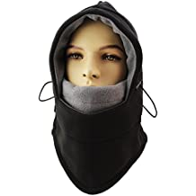 ZZLAY Pasamontañas Sombrero Capas Dobles Espesar Capas Invierno Versátil Cuello Cálido Polar Máscara de Esquí