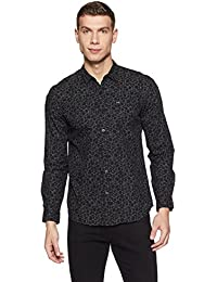 Lee Men's Geometric Print Slim Fit Casual Shirt