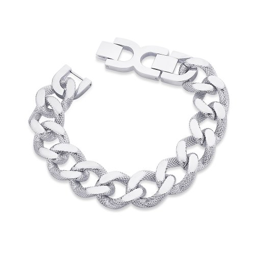 Peora  Bracelet  For Men Silver-PSB670