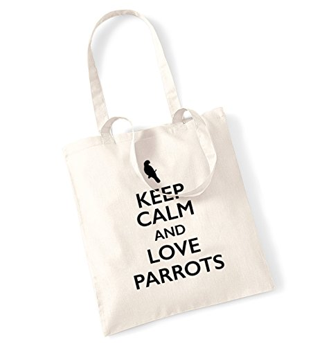 keep-calm-and-love-parrots-tote-bag