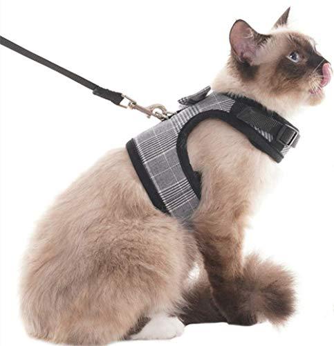 El arnés para gatos a prueba de escape es una gran opción para que tus gatos exploren el mundo al aire libre, hagan más ejercicio o viajen, puede asegurarse de que mantienen el control de forma segura. Y de alta calidad, ligera, transpirable malla ta...