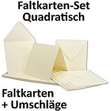 Toll Quadratische Karten Inklusive Briefumschläge | 50er Set | Blanko  Einladungskarten In Creme Weiß |