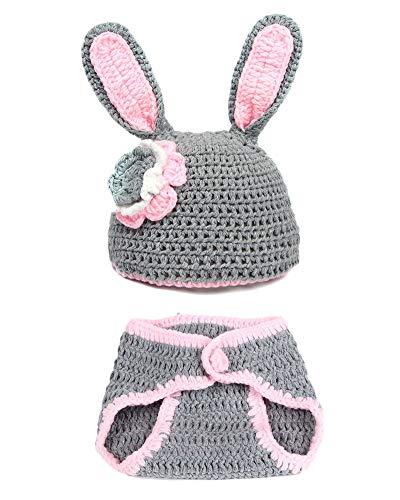 Kostüm Häschen Baby - Baby Kostüm, Neugeborenes Baby Kostüm Rose Häschen Foto Props Baby Fotografie Requisiten Grau