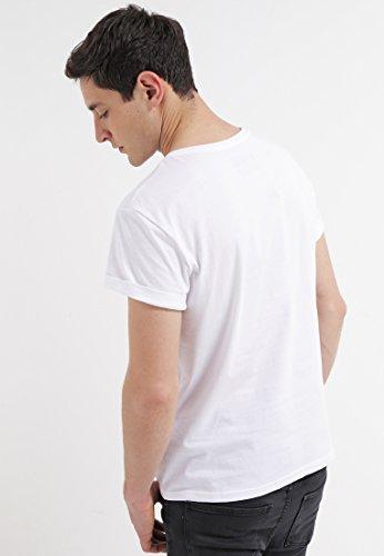 YOURTURN T-Shirt Herren Weiß o. Blau, Gemustert