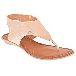 Zori Girls Casual Golden Leather Bellies - 5 UK